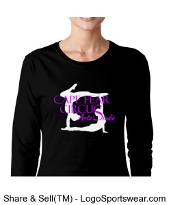 Gildan SoftStyle Ladies Long Sleeve T-Shirt Design Zoom